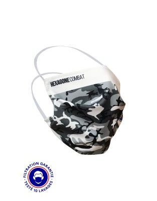 MASQUE GRAND PUBLIC CATEGORIE 1 – HEXAGONE COMBAT CAMO BLANC