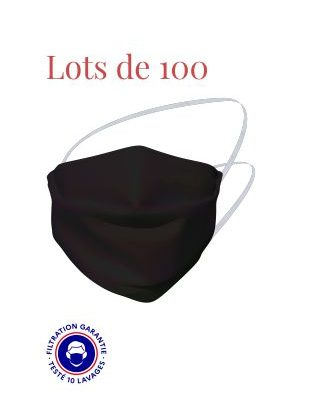 LOT DE 100 MASQUES GRAND PUBLIC CATEGORIE 1 BLEU NUIT